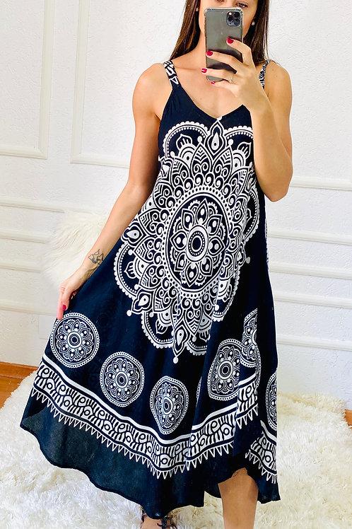 Vestido Mandala Preto