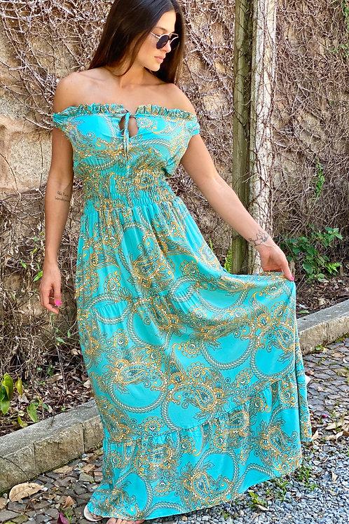 Vestido Pasley turquesa