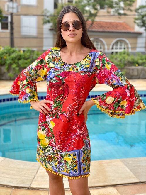 Saída de Praia/ vestido Amalfi Vermelho