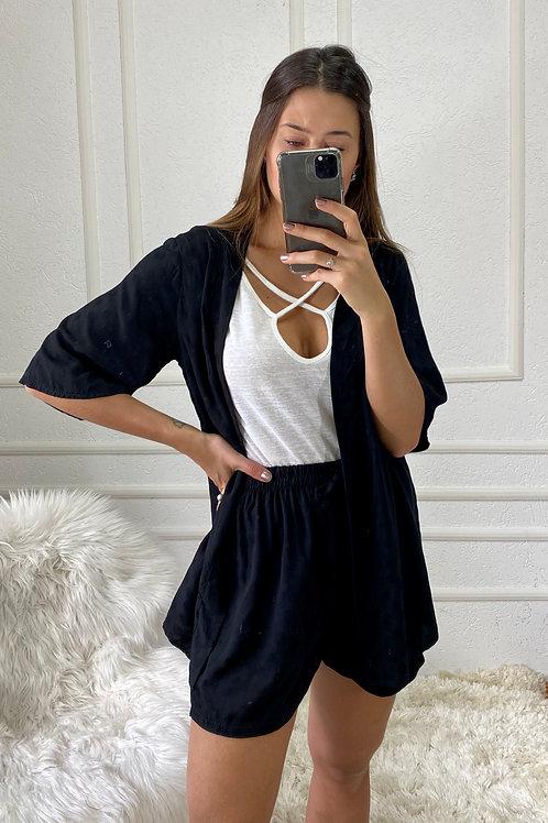 Kimono + Shorts Black