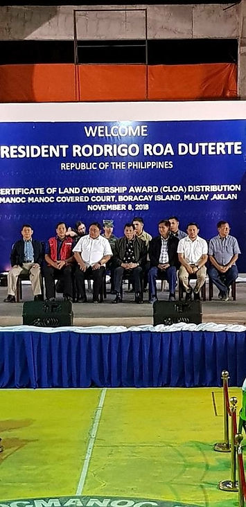 Distribution of Certificates of Land Ownership Award ​  We Are IT Philippines (WIT) provides the Presidential Communications Office, RTVM broadcast servicevia  Satellite for Presidential Visit.