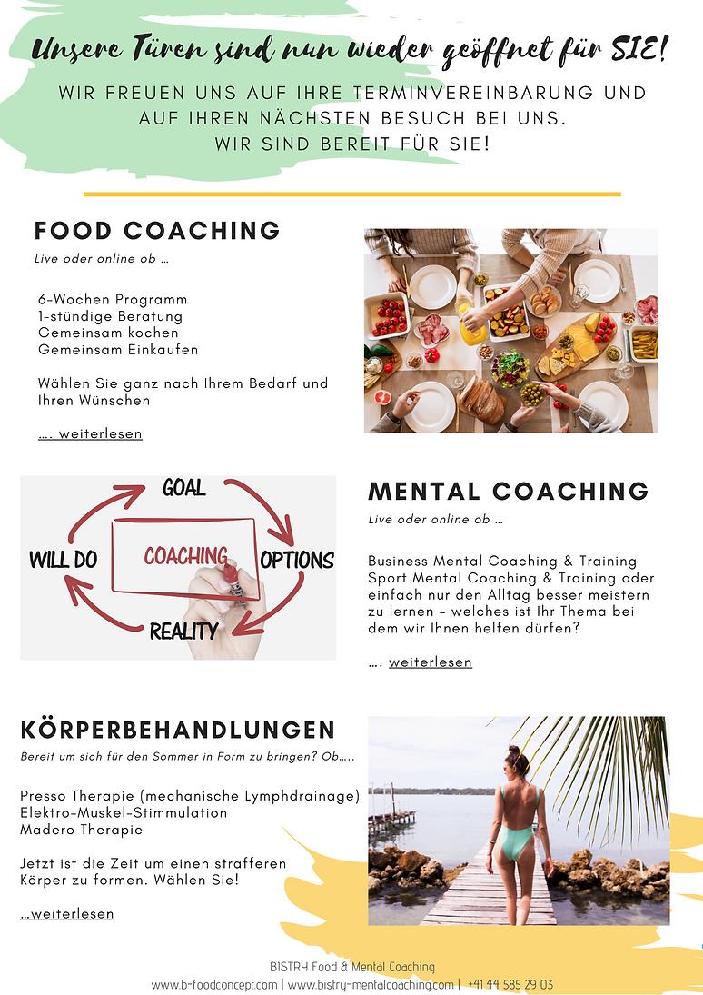 BISTRY  FOOD & MENTAL COACHING NEWSLETTE