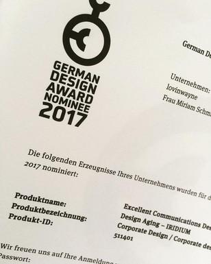 """German Design Award"" Nominierung"