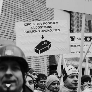 Protestni shod - Rudarjev