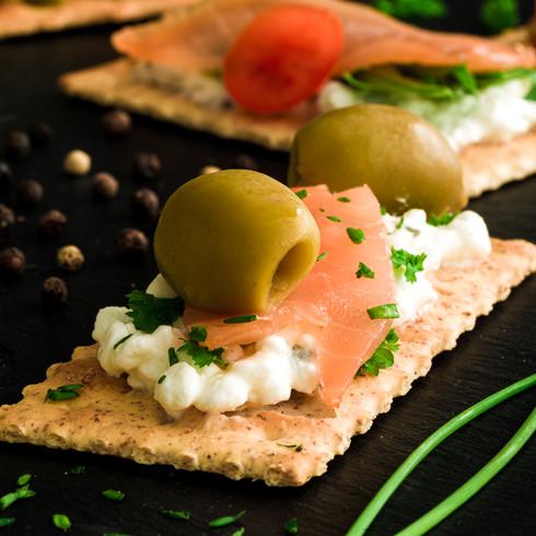 Fotografija hrane - lososov sendvič
