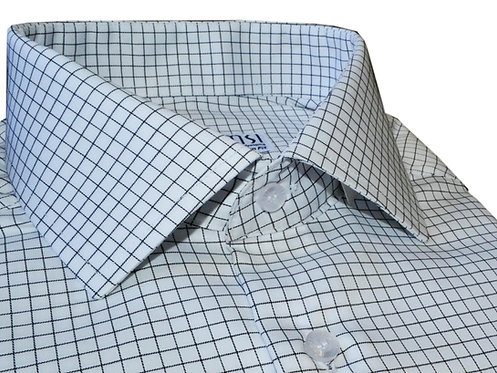 Non-Iron Check white shirt