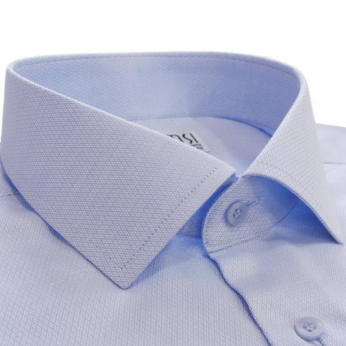 100% cotton blue formal shirt