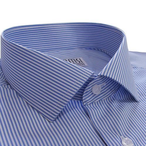 100% cotton blue stripe shirt