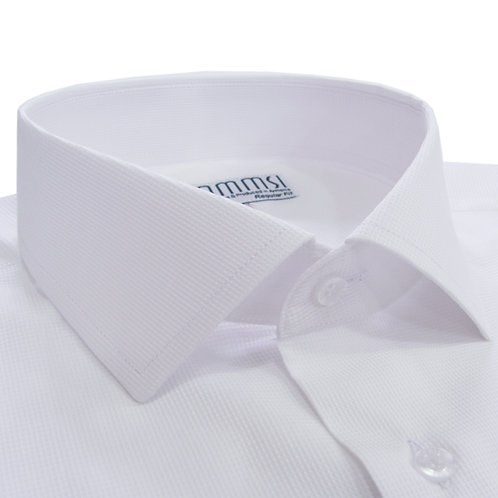 100% բամբակե սպիտակ վերնաշապիկ