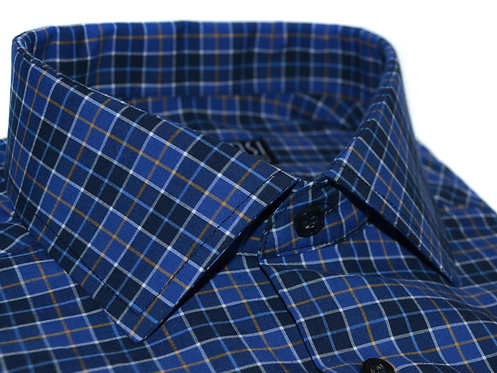 100% cotton dark blue casual shirt