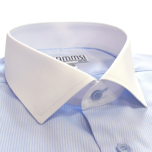 100% cotton blue formal shirt