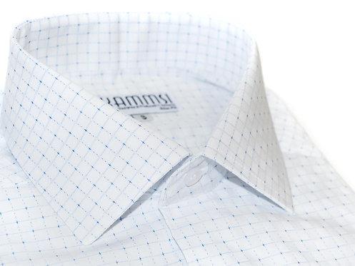 100% Cotton Dobby White Formal Shirt
