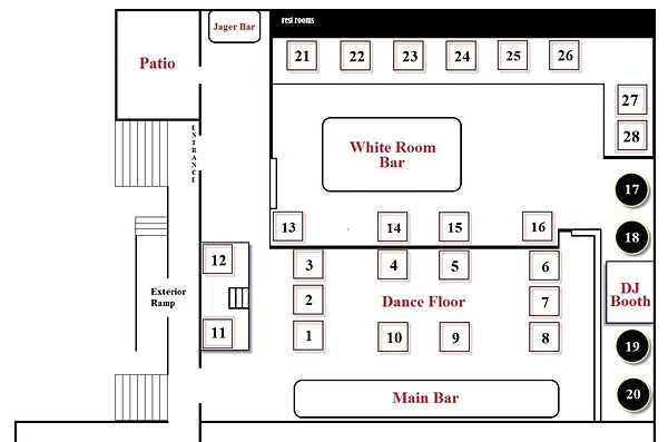 Aura Nightclub Floor Plan