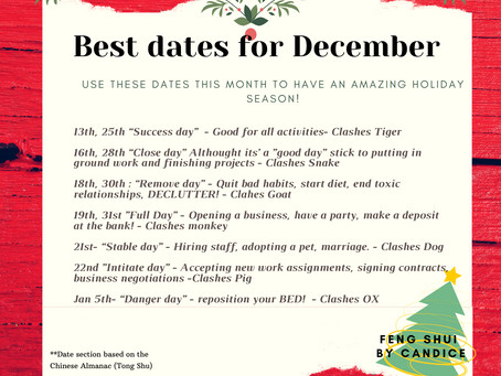Date Selection for December: Lucky Dates