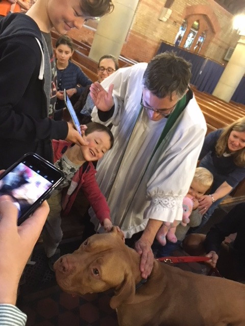 Our first pet blessing service