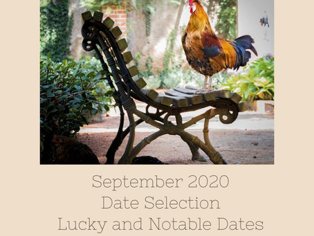 September 2020 Date Selection