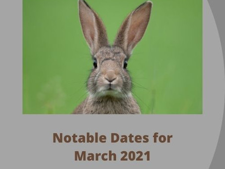 Monthly Lucky Dates: March 2021