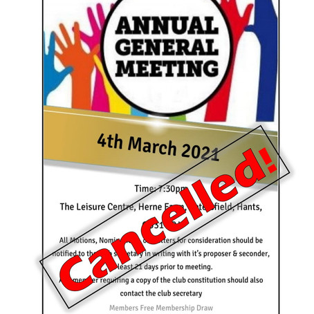 AGM Cancelled!