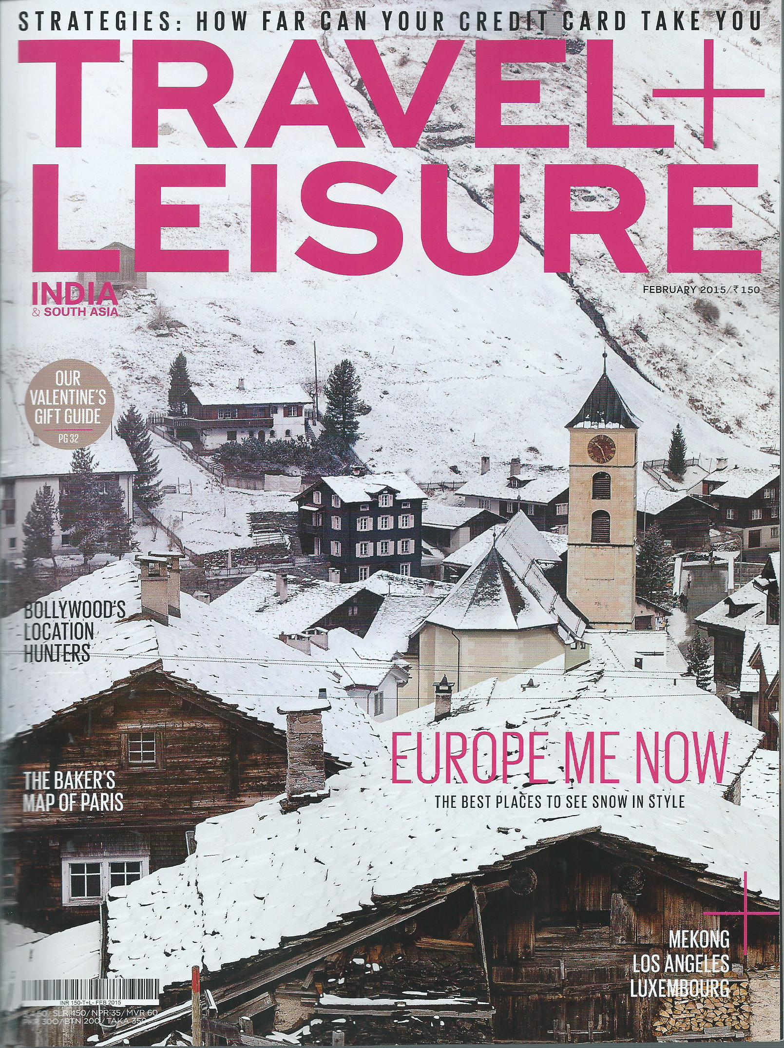 TRAVEL + LIESURE (cover) - 13th February,2015
