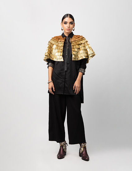 Fringed Lace Gold Dose Cape