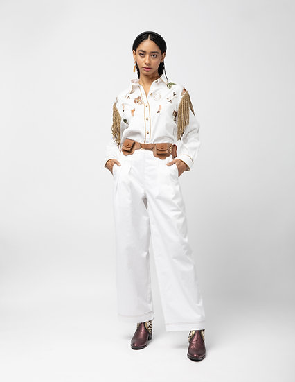 White Gallop Shirt