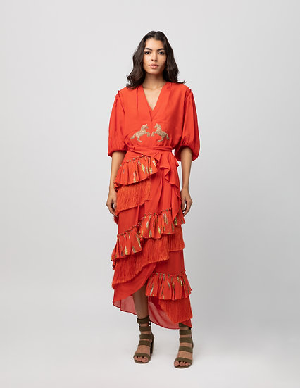 The Ruffled Feathers Warp Skirt