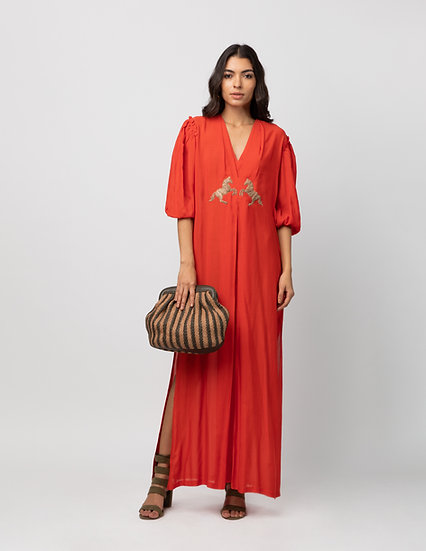 The Pleated Column Dress