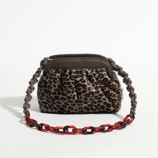 The Grey Leopard clutch
