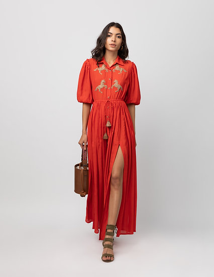 The Drawstring Dress With Slits
