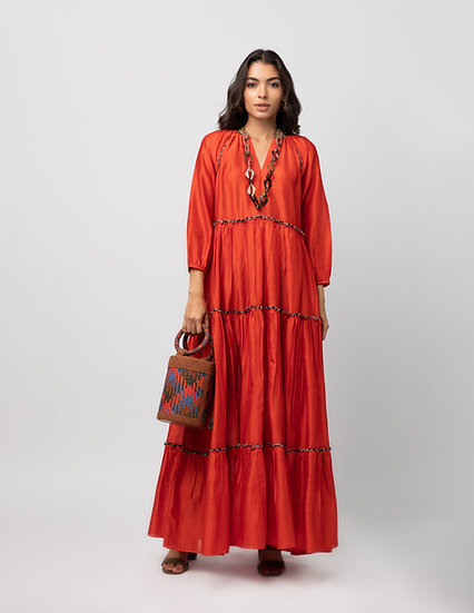 The Gathered Maxi Dress