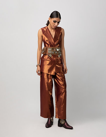 Antique rose gold Jacket and Pants