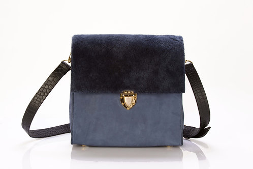 'Into the blue' Shearling stachel