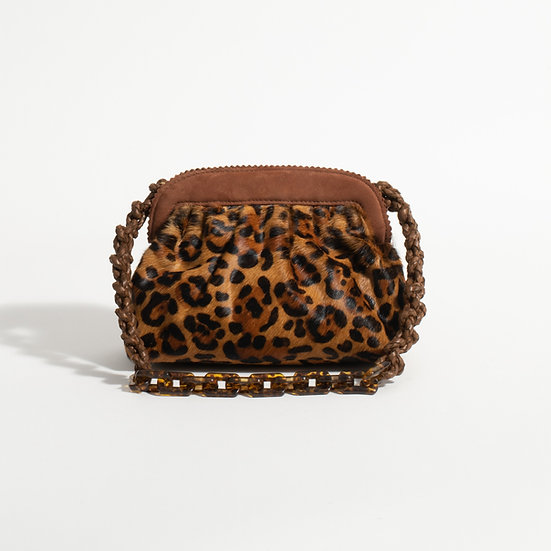 The Tan Leopard clutch
