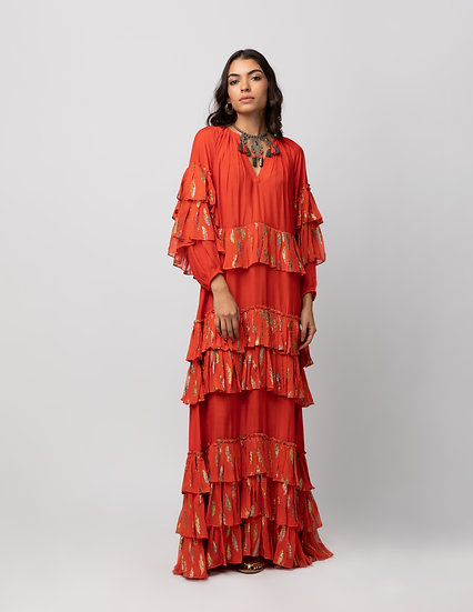 The Ruffled Feather Maxi Dress