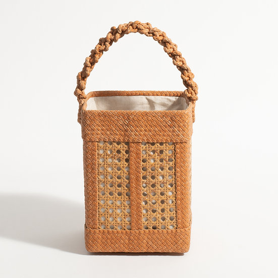 The Dual Toned Woven Square bucket