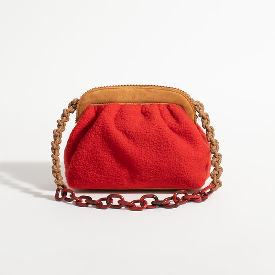 The Shearling clutch