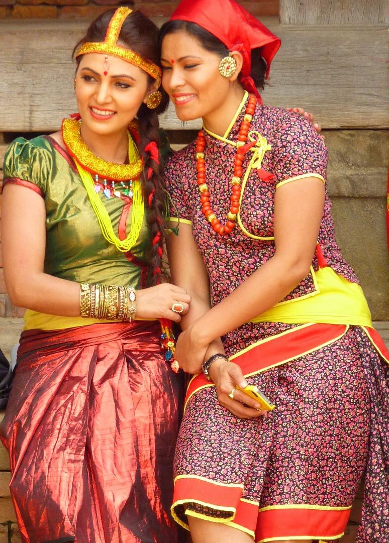 ネパールの美しい女性たち