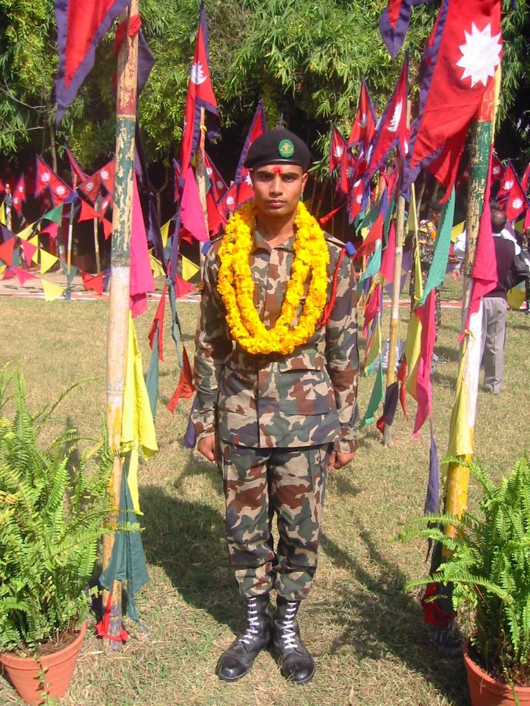 近年まで内戦を戦ってきたネパール軍の兵士たちは愛国心が強く、とても勇敢だ