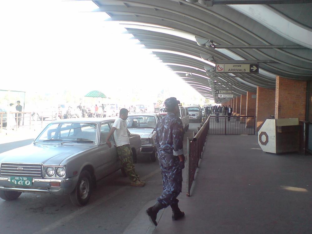 トリブヴァン国際空港の到着口