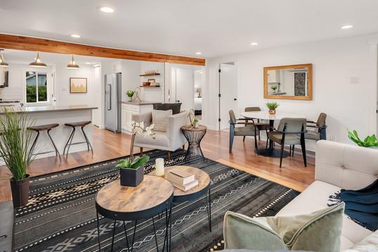 Open Living Room Remodel Concept