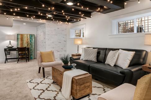 Basement Living Room Remodel Design