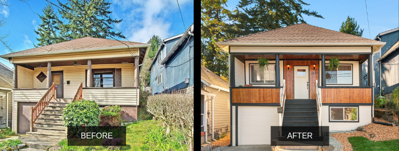 exterior design before and after