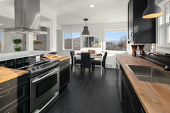 Wooden Countertop With Dark Interior