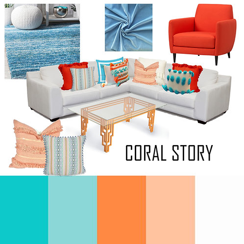 Coral Story combo L shaped