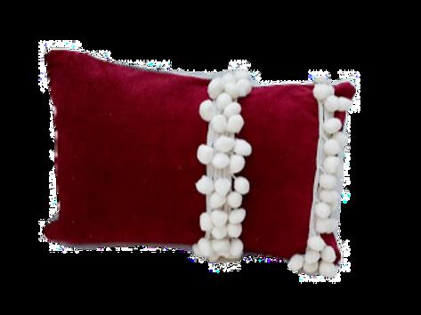 Red velvet Snow snuggle Cushion Cover