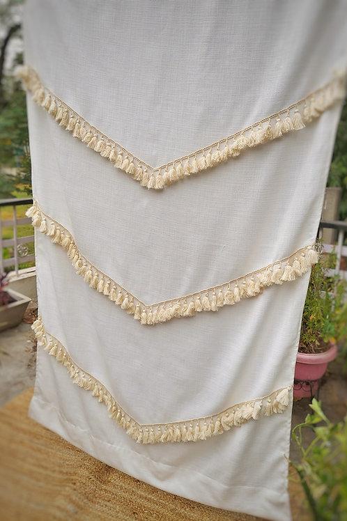 Off-White Fringe Curtain