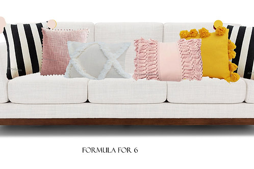 Touch of Blush Combo- 6 Cushions Set