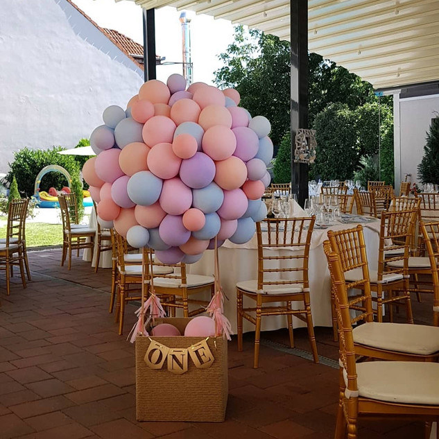 Cos baloane pastel
