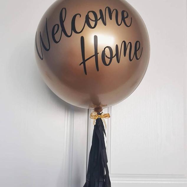Balon inscriptionat Welcome Home