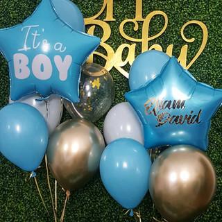 Balon Inscriptionat Blue